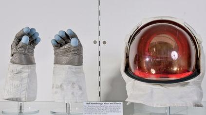 Neil Armstrong's Visor and Gloves