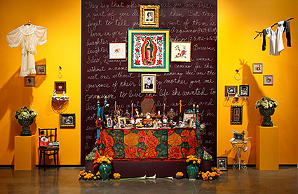 A Room of Her Own: My Mother's Altar, an installation by Sandra Cisneros