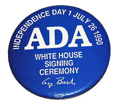 the signing of the americans with disabilities act Today, i am signing s 933, the americans with disabilities act of 1990 in this  extraordinary year, we have seen our own declaration of independence inspire.