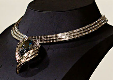 Hope Diamond in Its New Temporary Setting
