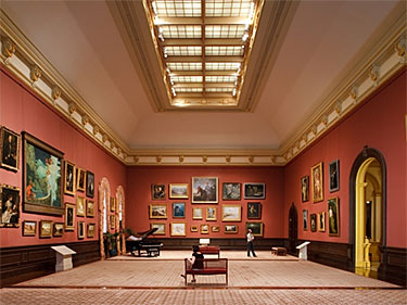 grand salon installation paintings from the smithsonian american