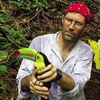 STRI scientist with Tucan