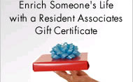 Enrich someone's life with a Resident Associates Gift Certificate