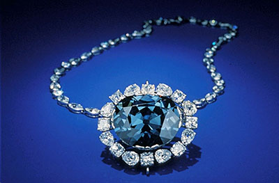 The Hope Diamond owes its distinctive shade of blue to trace amounts of boron.