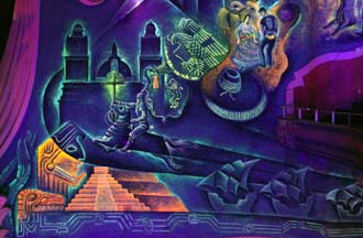 Museum conservation institute glowing murals get a facelift for Black light mural