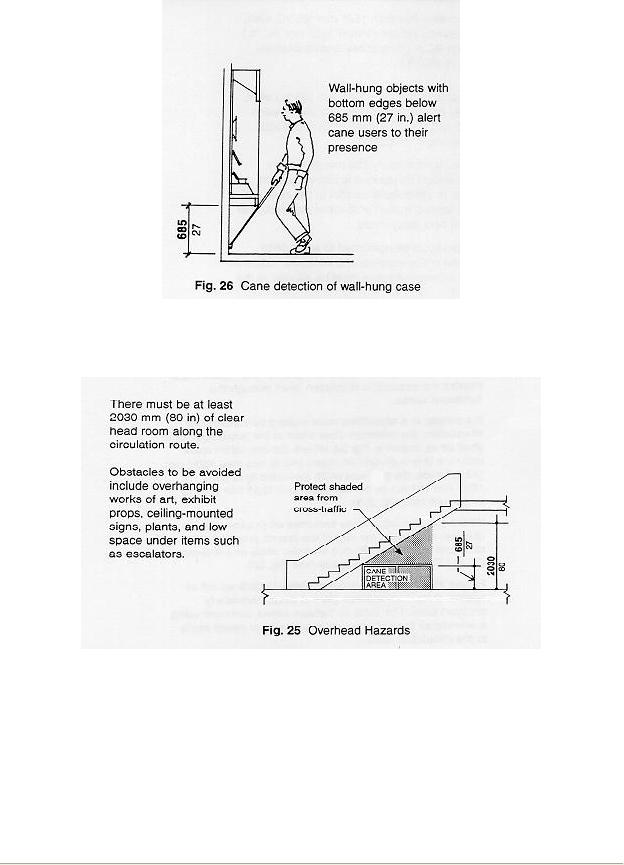 figure 26 cane detection of wall-hung case figure 25 overhead hazards