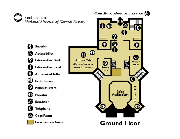 Museum Of Natural History Map Pdf