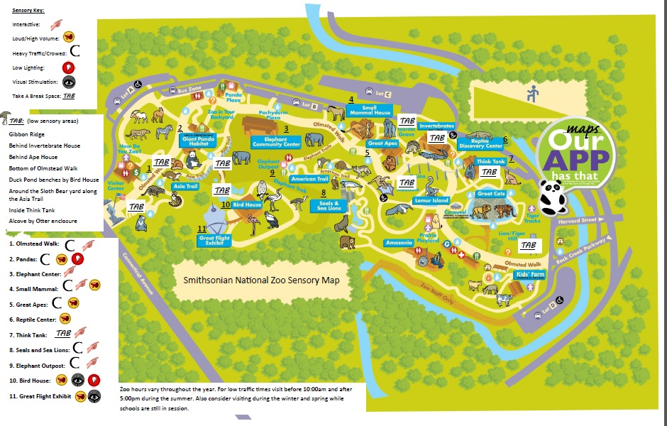 Smithsonian Washington Dc Map.Morning At The Zoo Accessibility Smithsonian