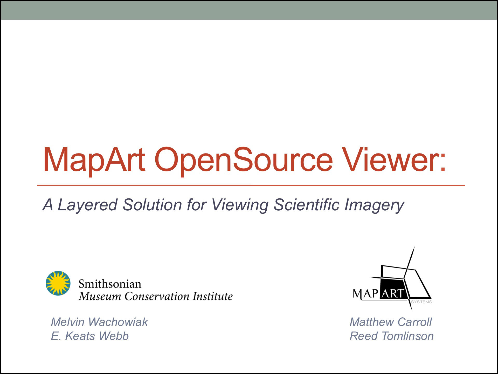 MapArt OpenSource Viewer Presentation