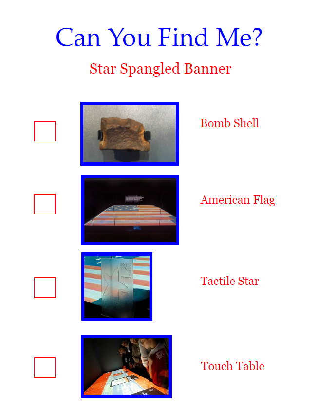 Star-Spangled Banner Seek and Find