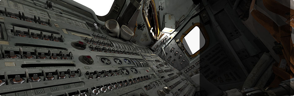 Apollo 11 Command Module 3-D Scan Explorer