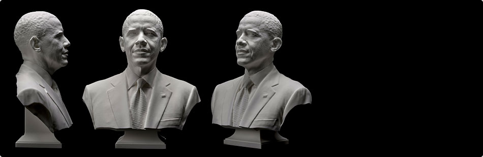 First Presidential 3D Printed Life Mask and Bust
