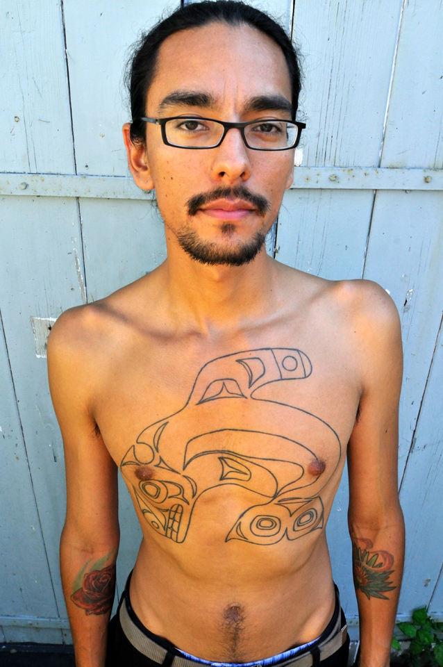Tlingit tattoo artist Nahaan is on a mission to revive the family and clan crest tattoos of his ancestors. (Photo copyright Lars Krutak)