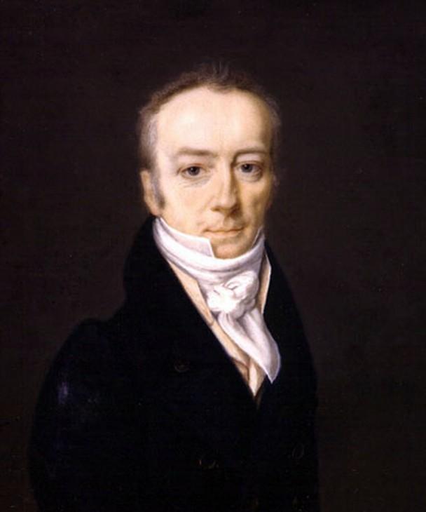 portrait of James Smithson dressed in a black jacket.