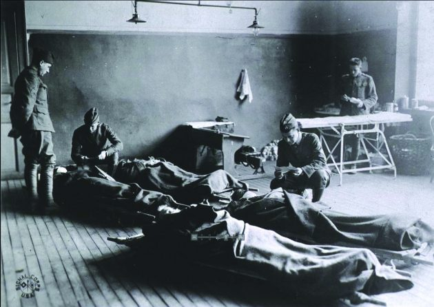 flu victims in WWI