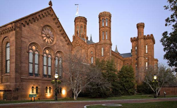 Smithsonian Castle at dusk