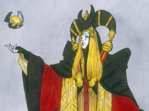 Concept Art Queen Amidala Senate Gown Star Wars™: The Phantom Menace