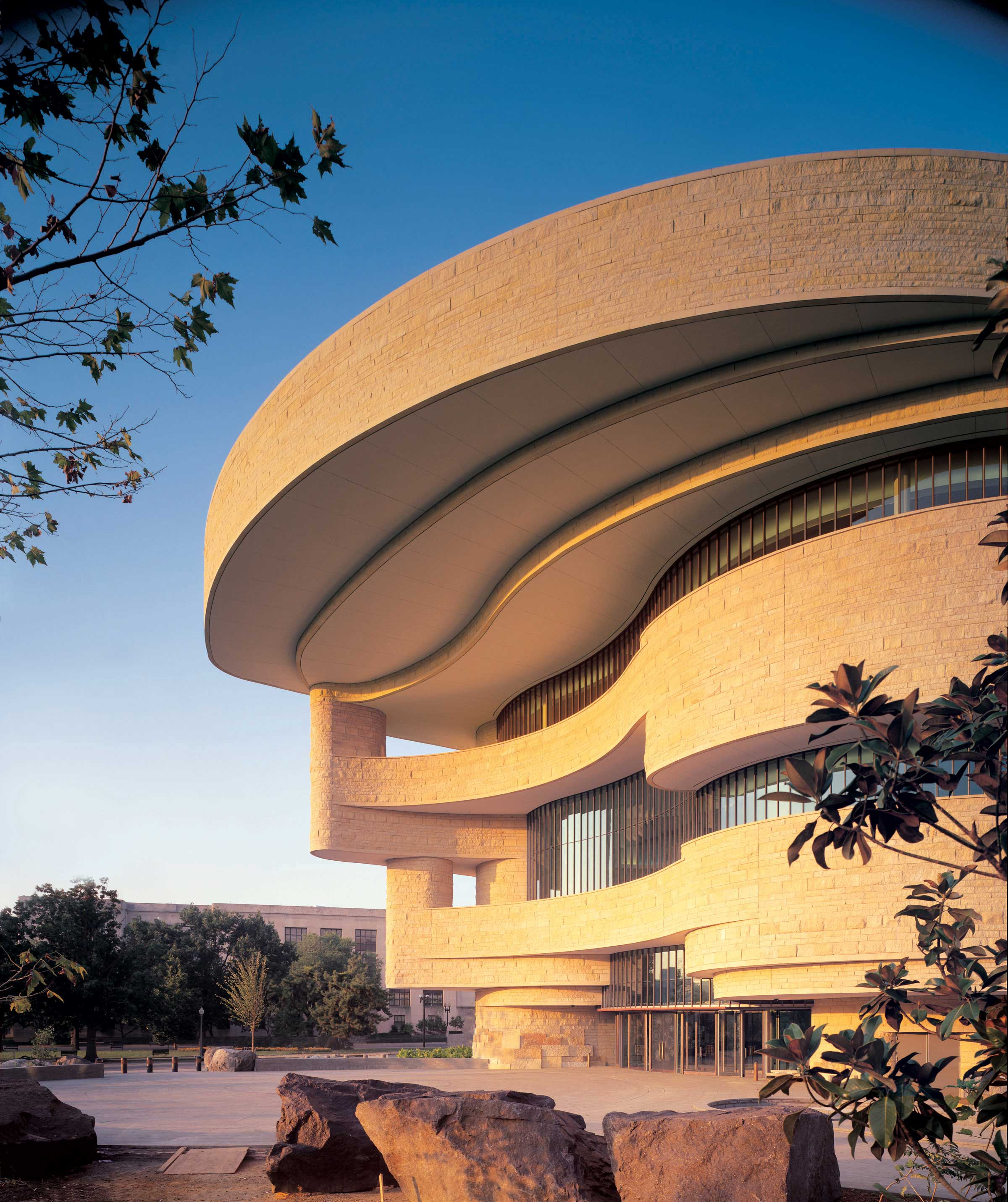 Exterior of National Museum of the American Indian