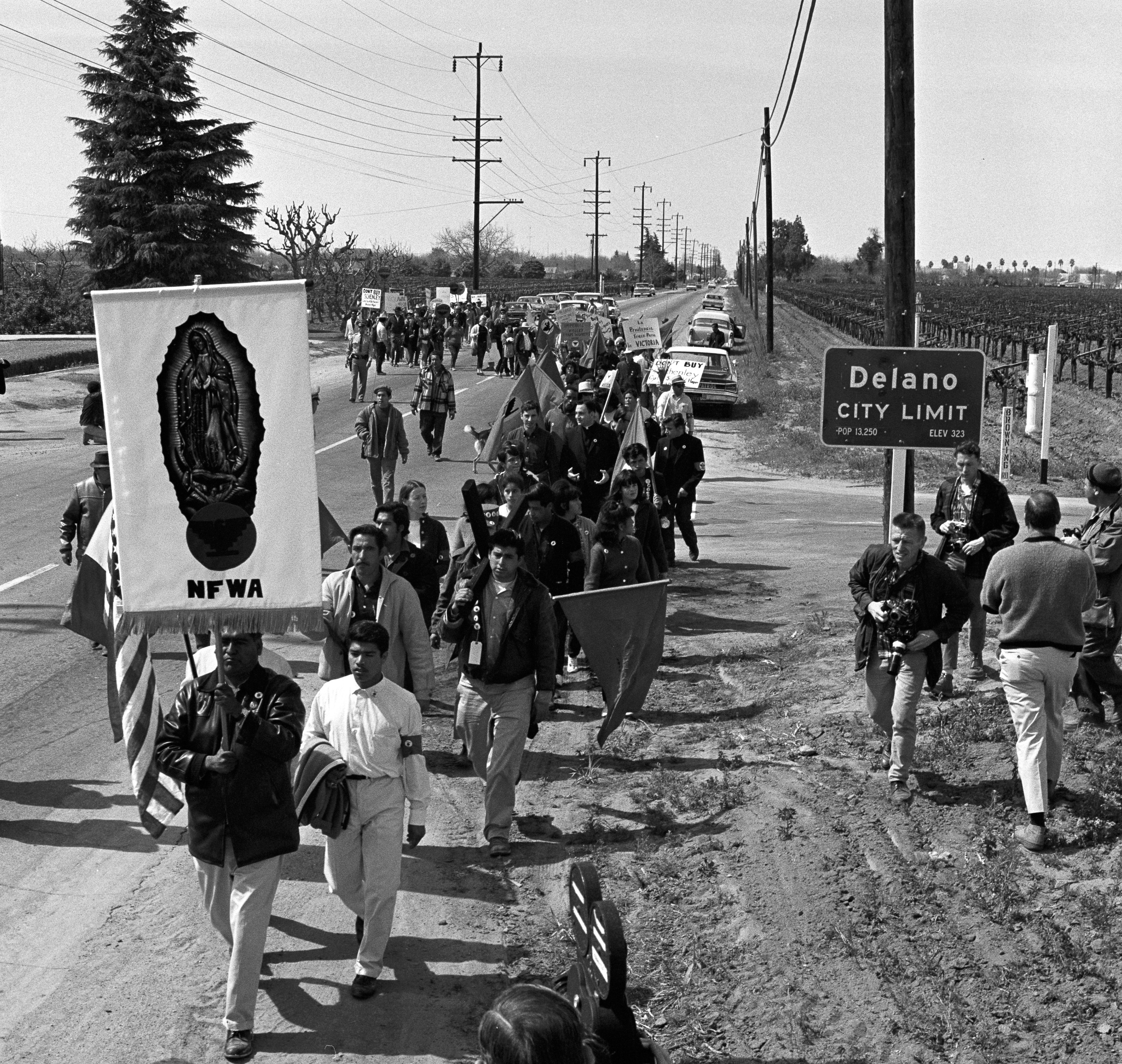 Farm Workers March from Delano to Sacramento in 1966