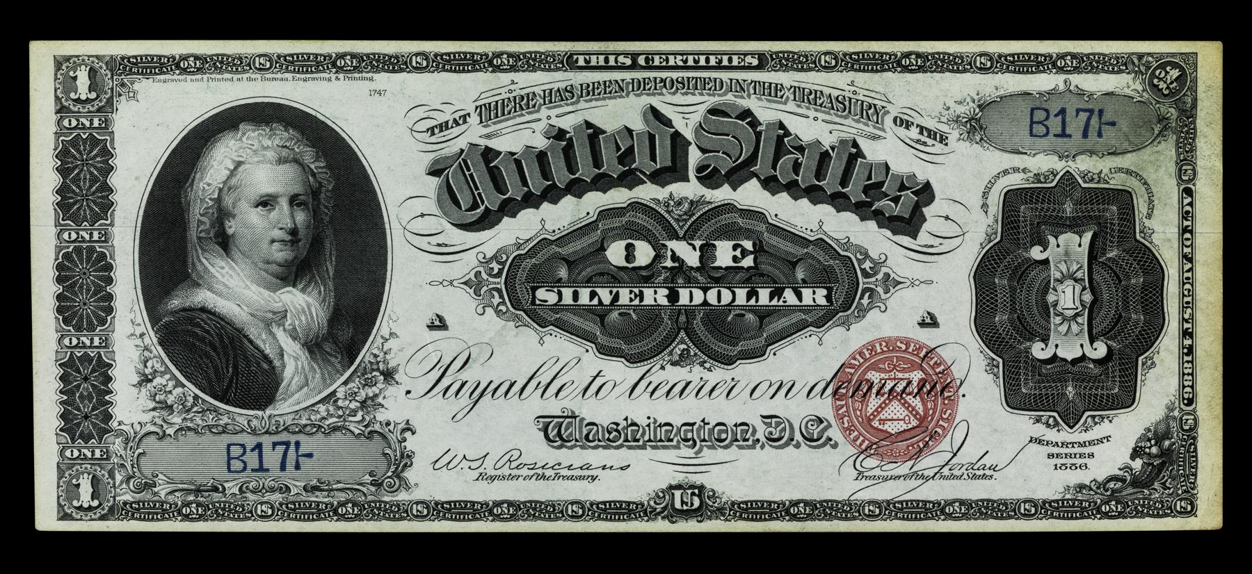 Women On Money Silver Certificate Smithsonian Institution