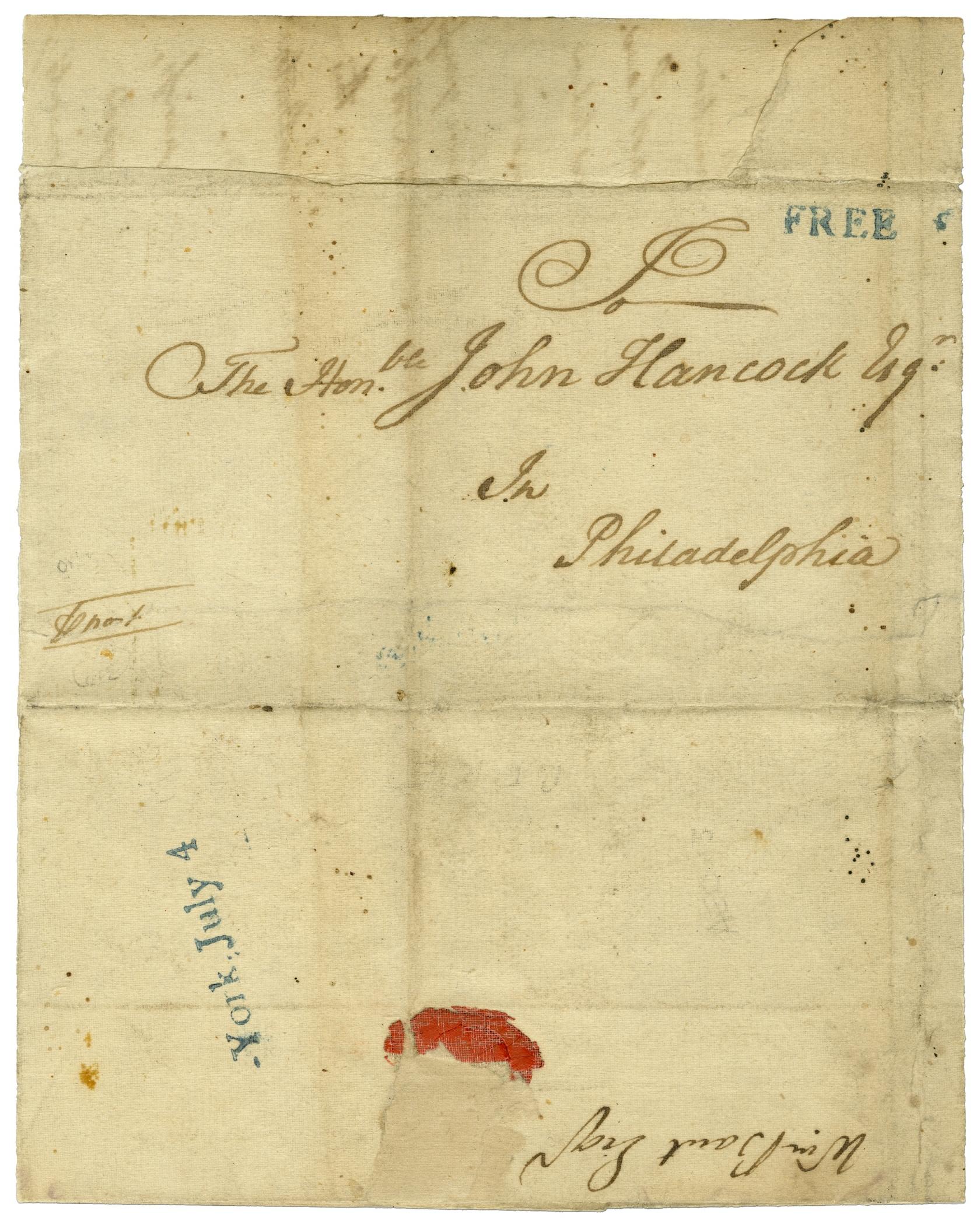 July 4, 1776, John Hancock cover | Smithsonian Institution