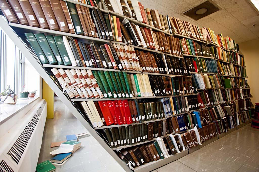 Earthquake Damage Botany Library