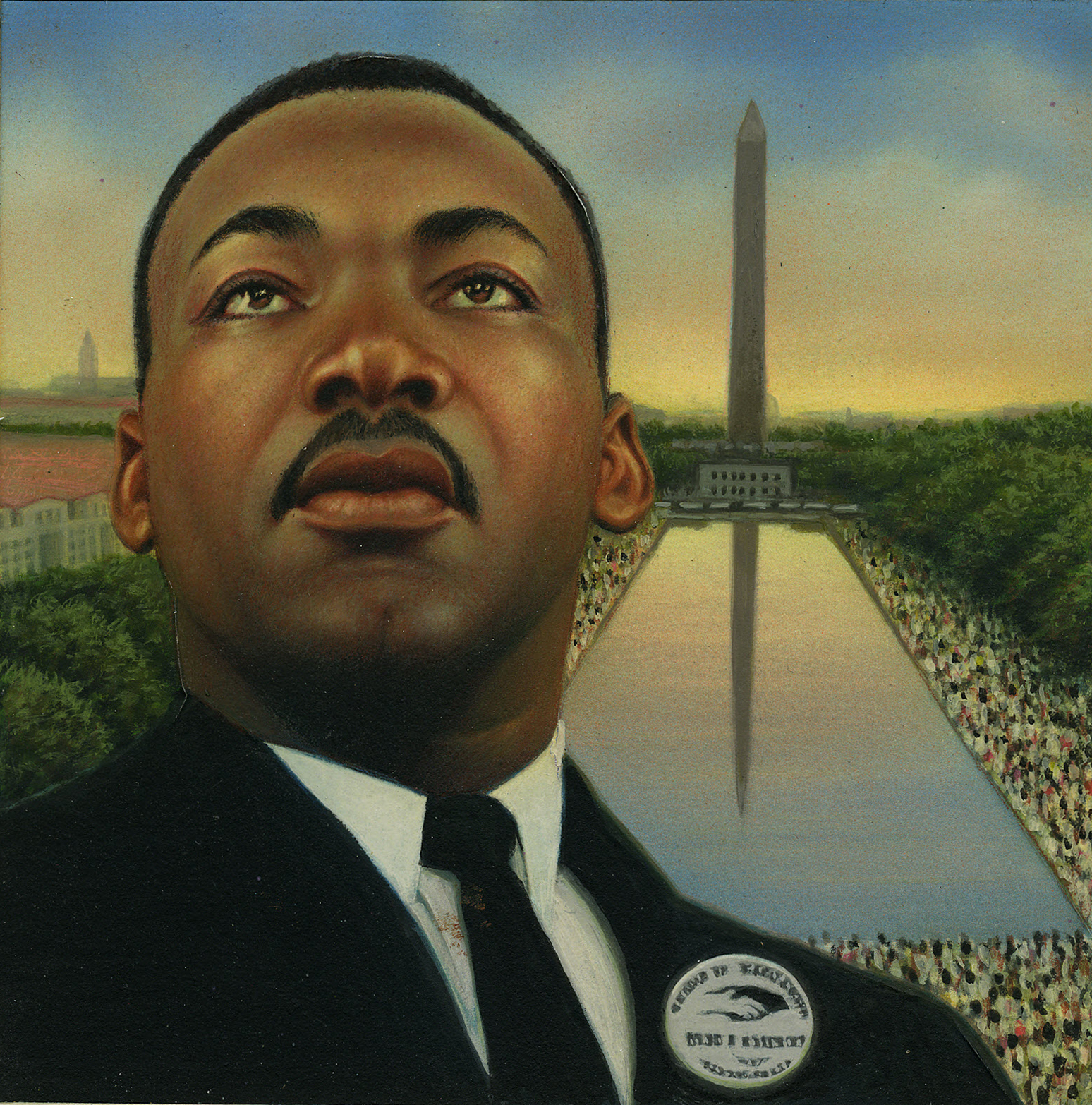 Freedom 33c Martin Luther King Jr Approved Stamp Art By Keith