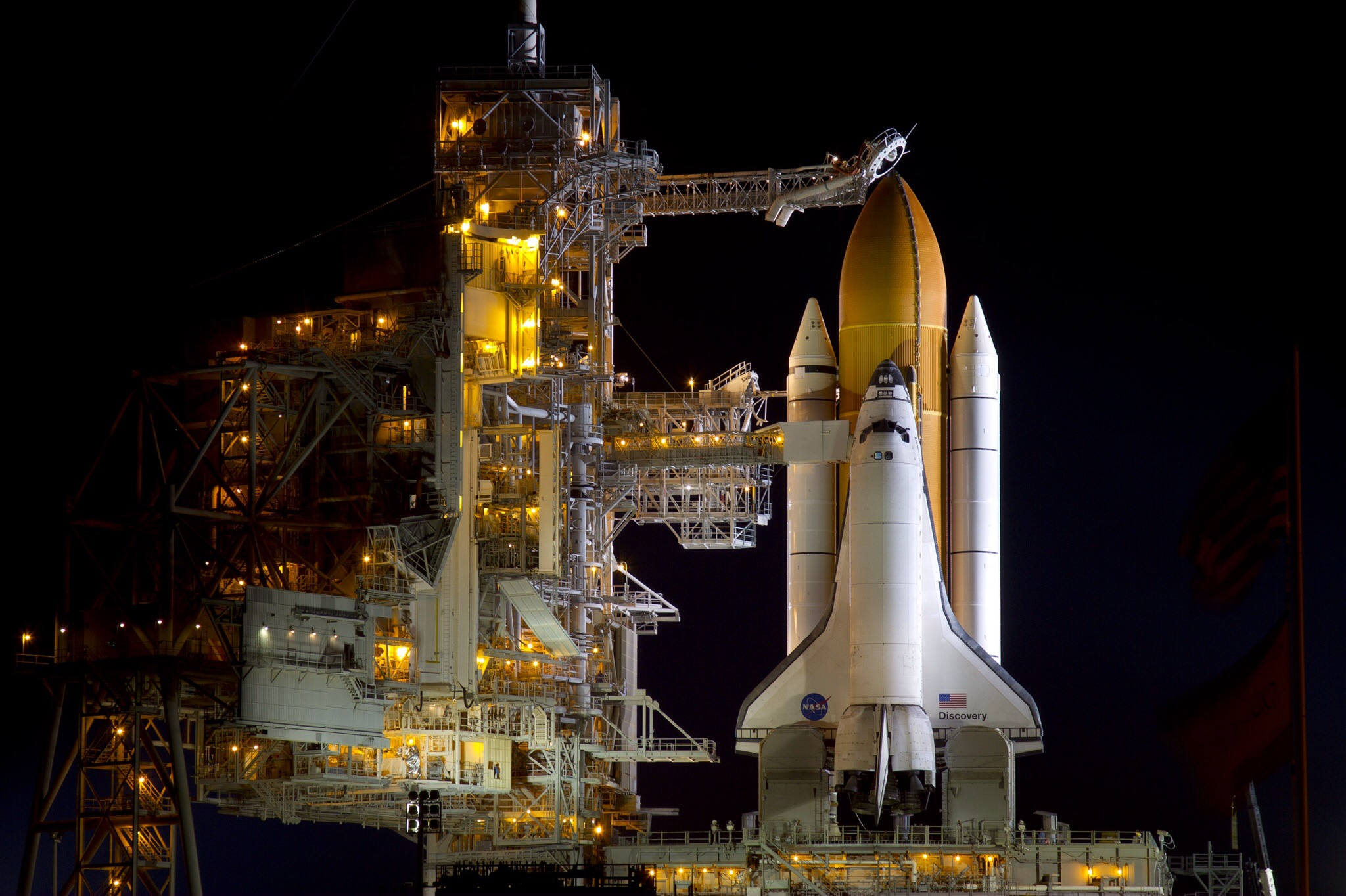 Space Shuttle Discovery: On Launch Pad