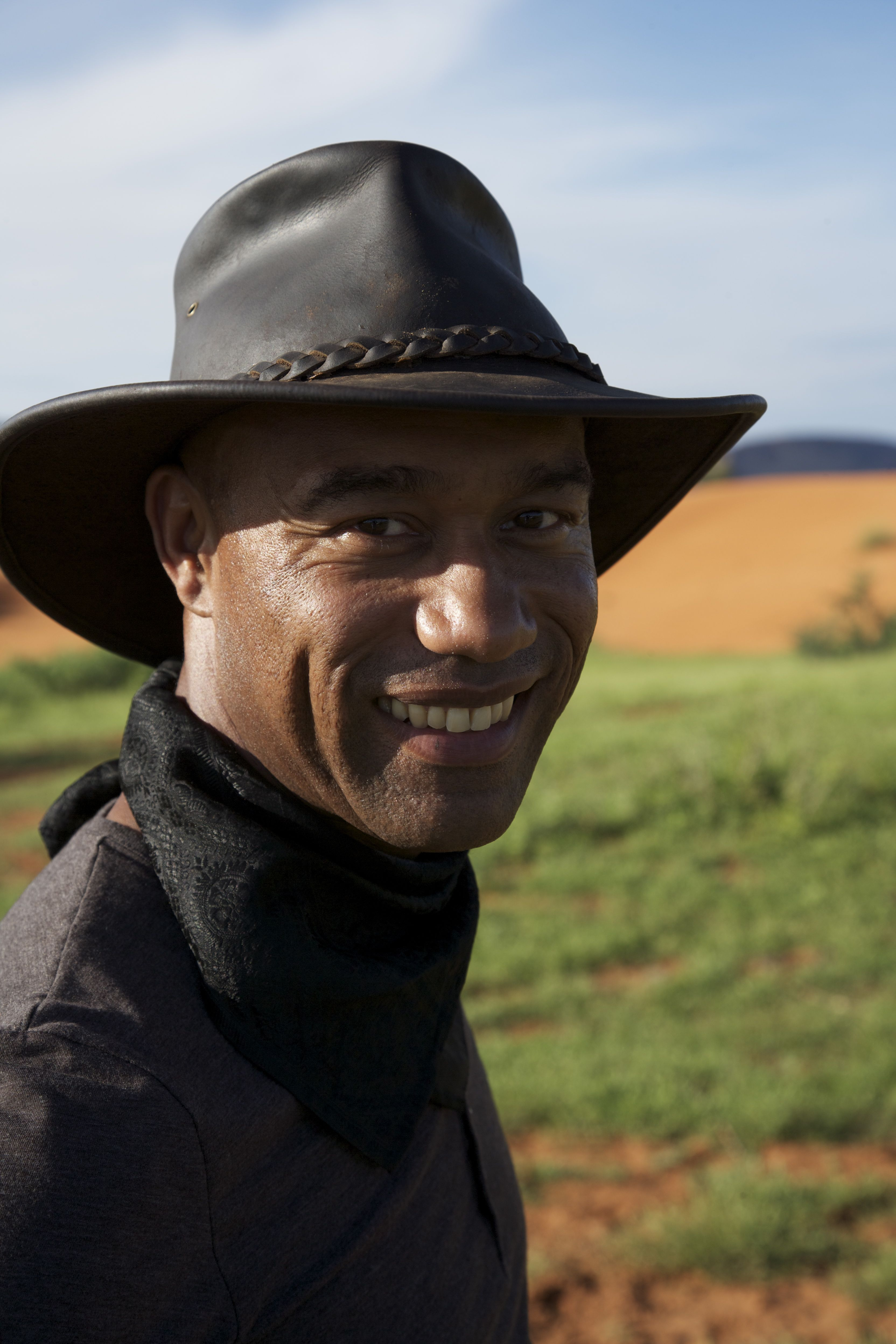 Portrait of Casely-Hayford wearing a hat