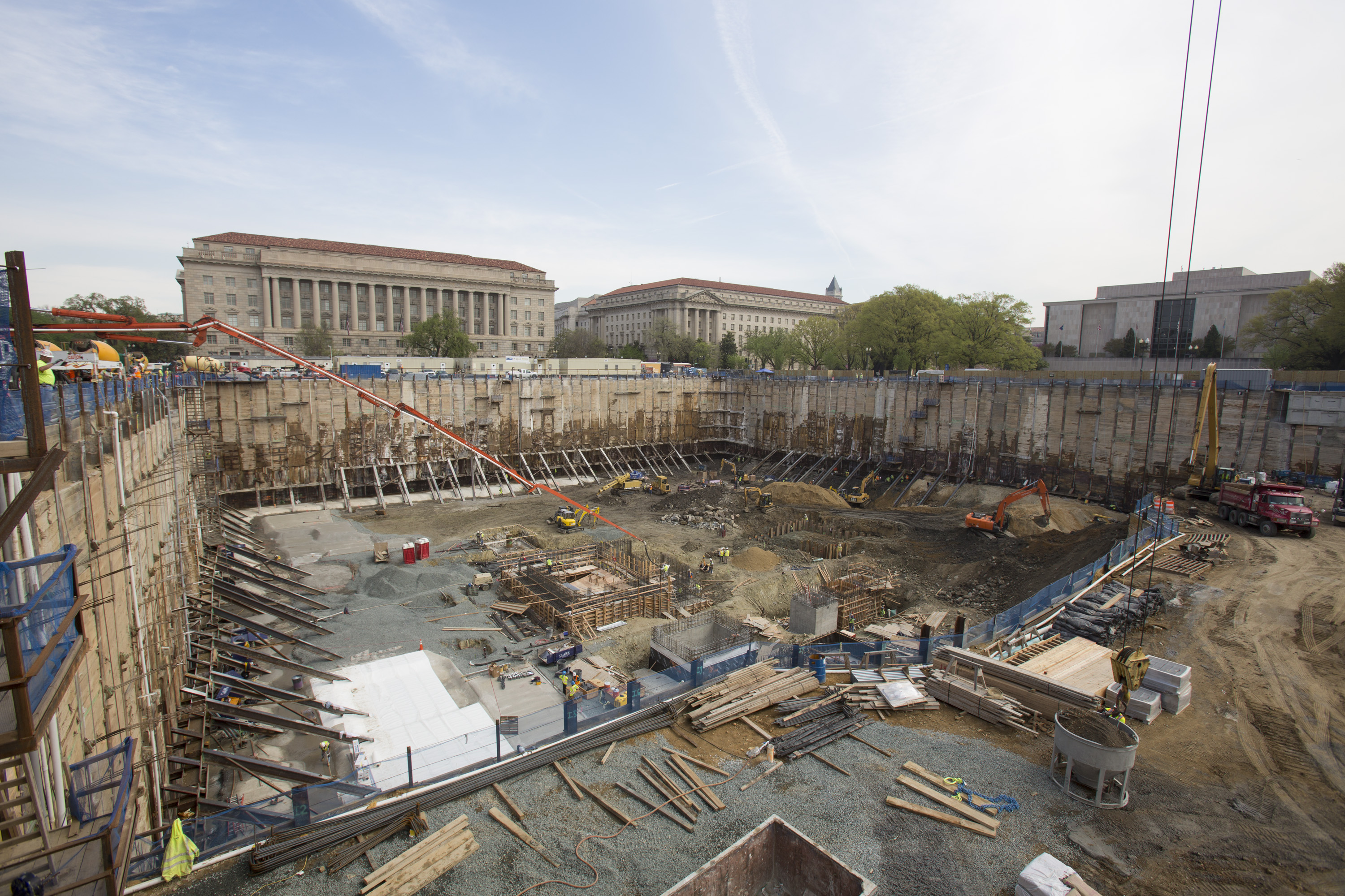 National Museum of African American History and Culture construction site