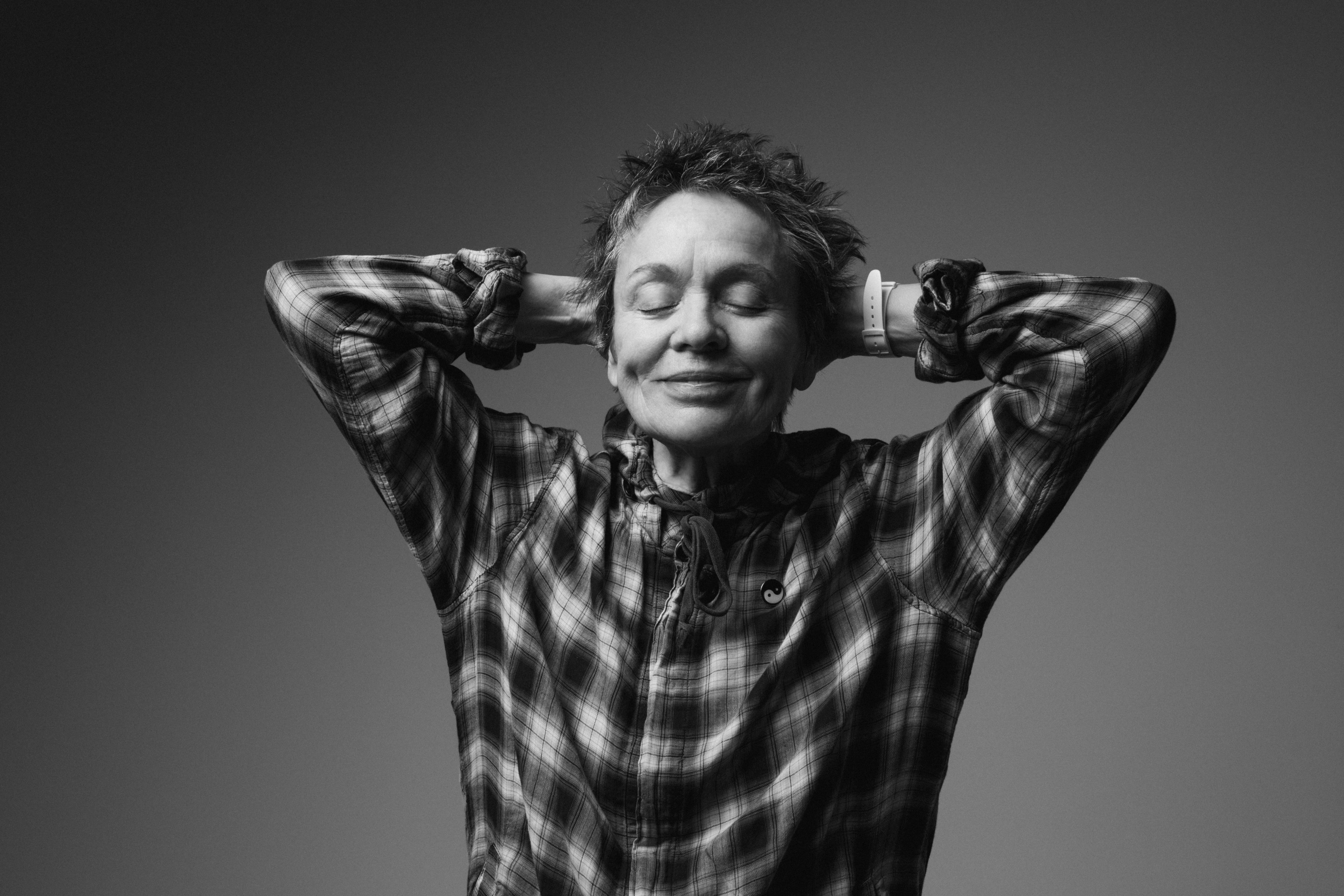 Black and White photo of Laurie Anderson