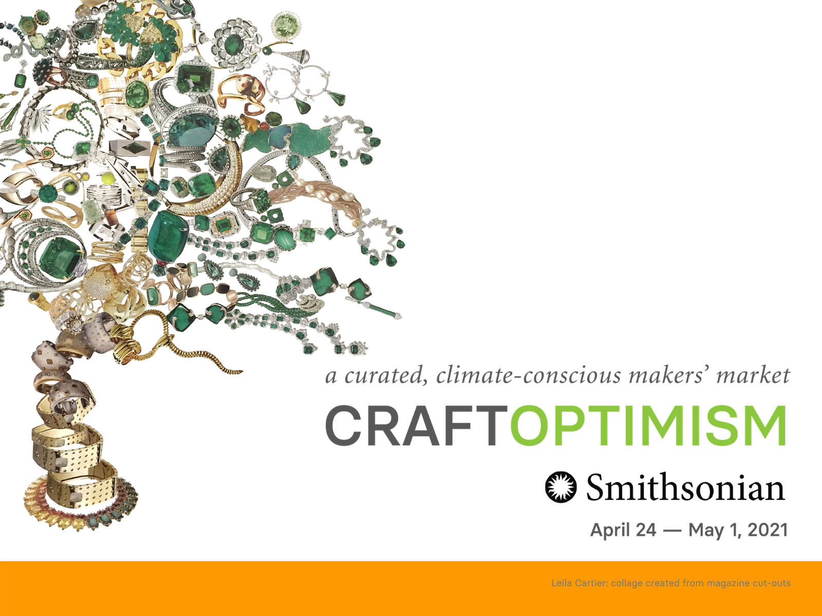Craft Optimism graphic with collage of ornate jewelry