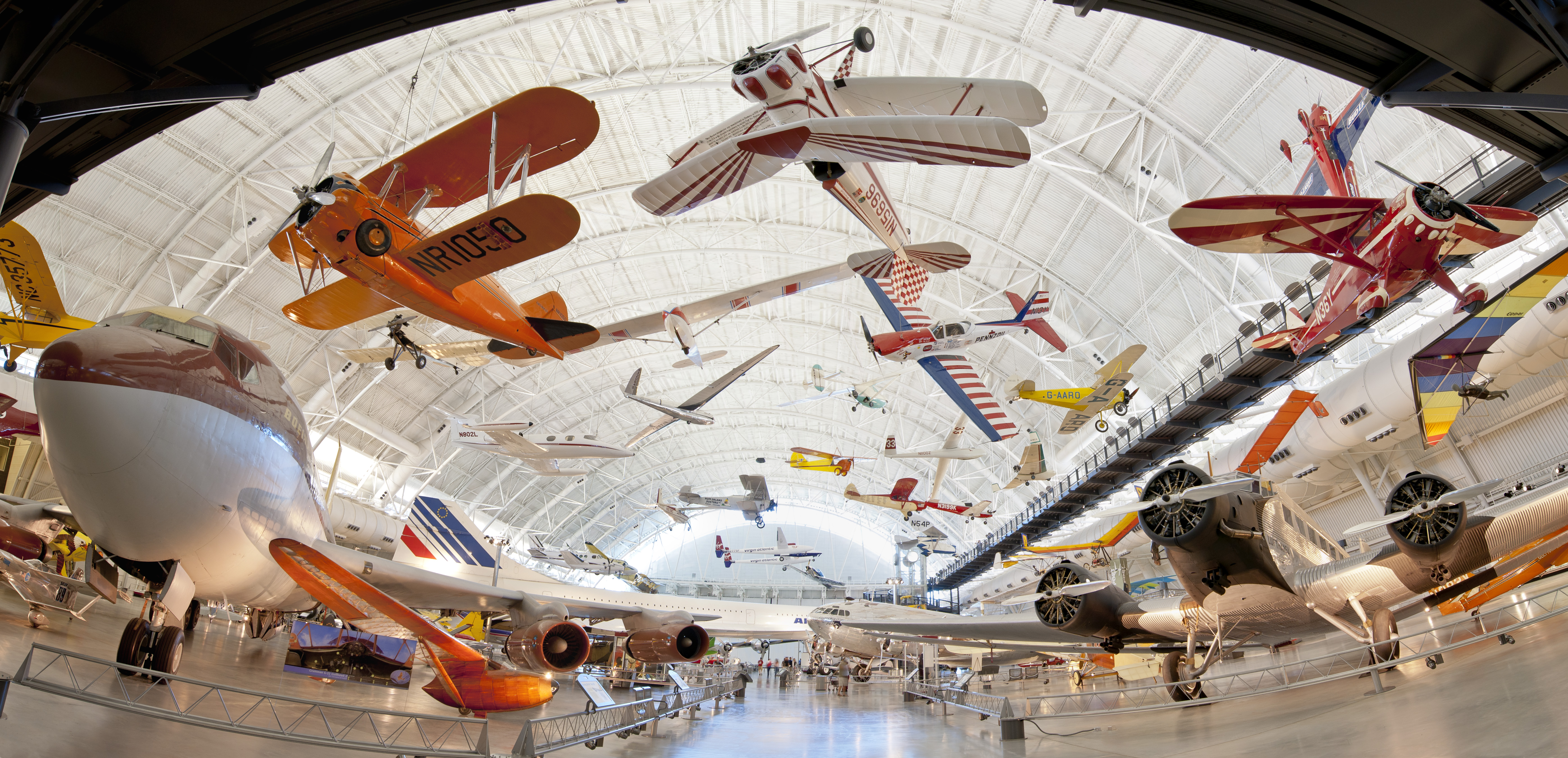 The Boeing Aviation Hangar at the Udvar-Hazy Center in Chantilly, VA.