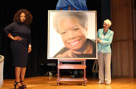 Oprah and Maya Angelou portrait
