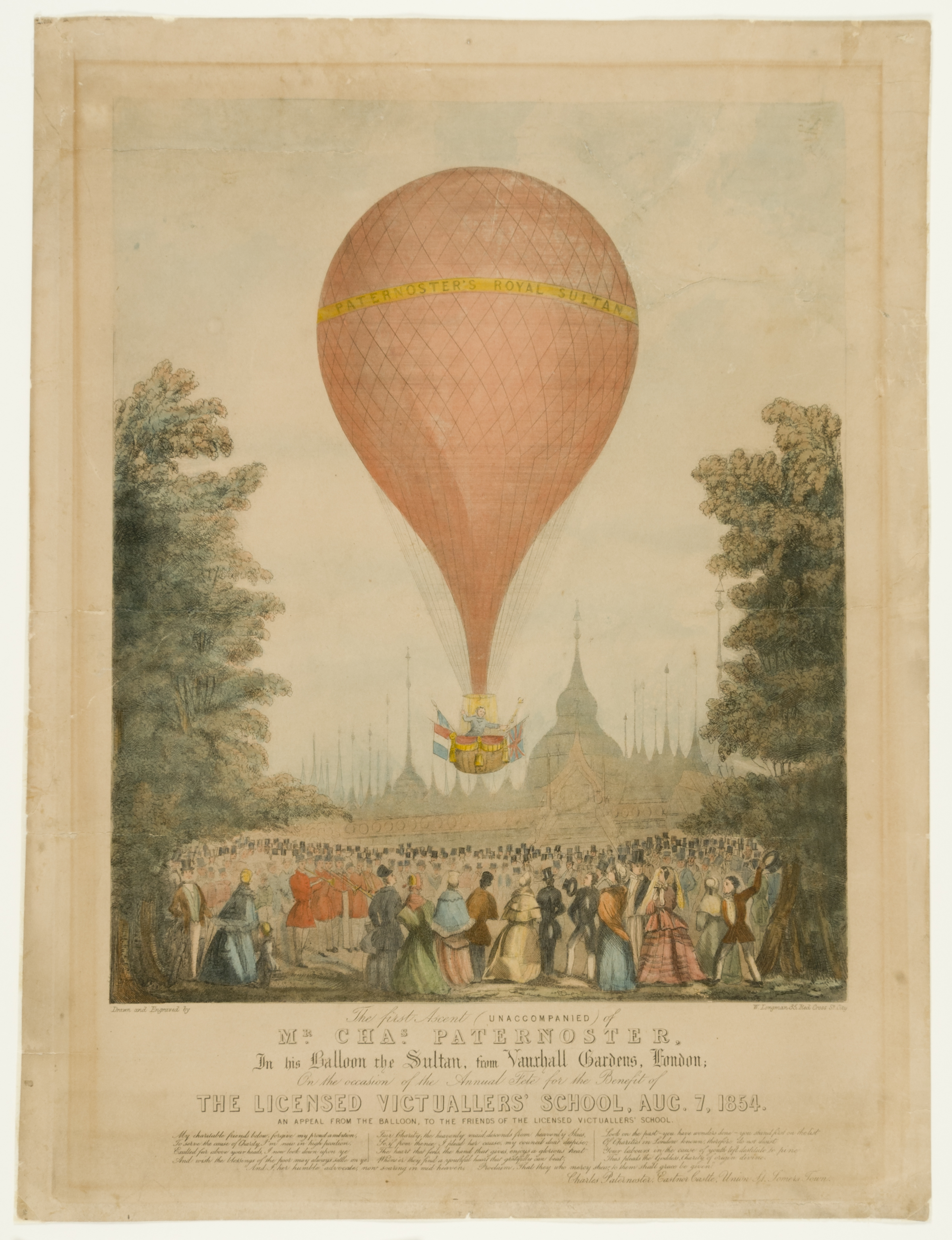 print of hot air balloon