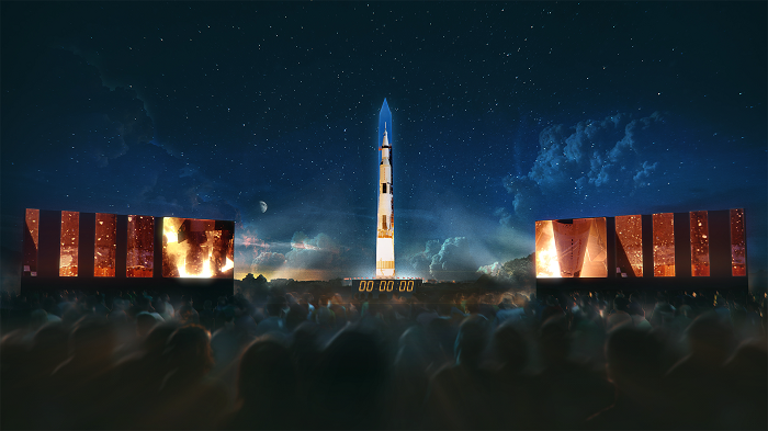 National Air and Space Museum Recreates Launch of Apollo 11