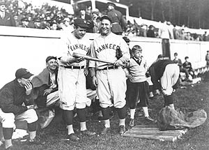 Babe Ruth and Lou Gehrig in 1927