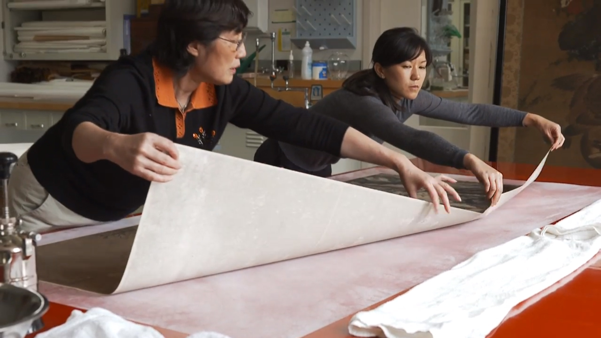 Chinese paper conservators