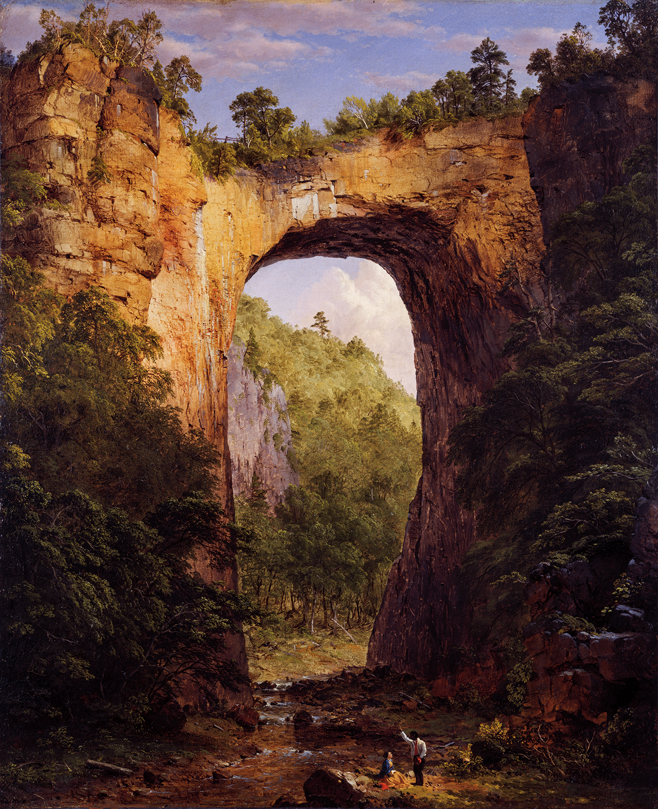 painting of natural bridge