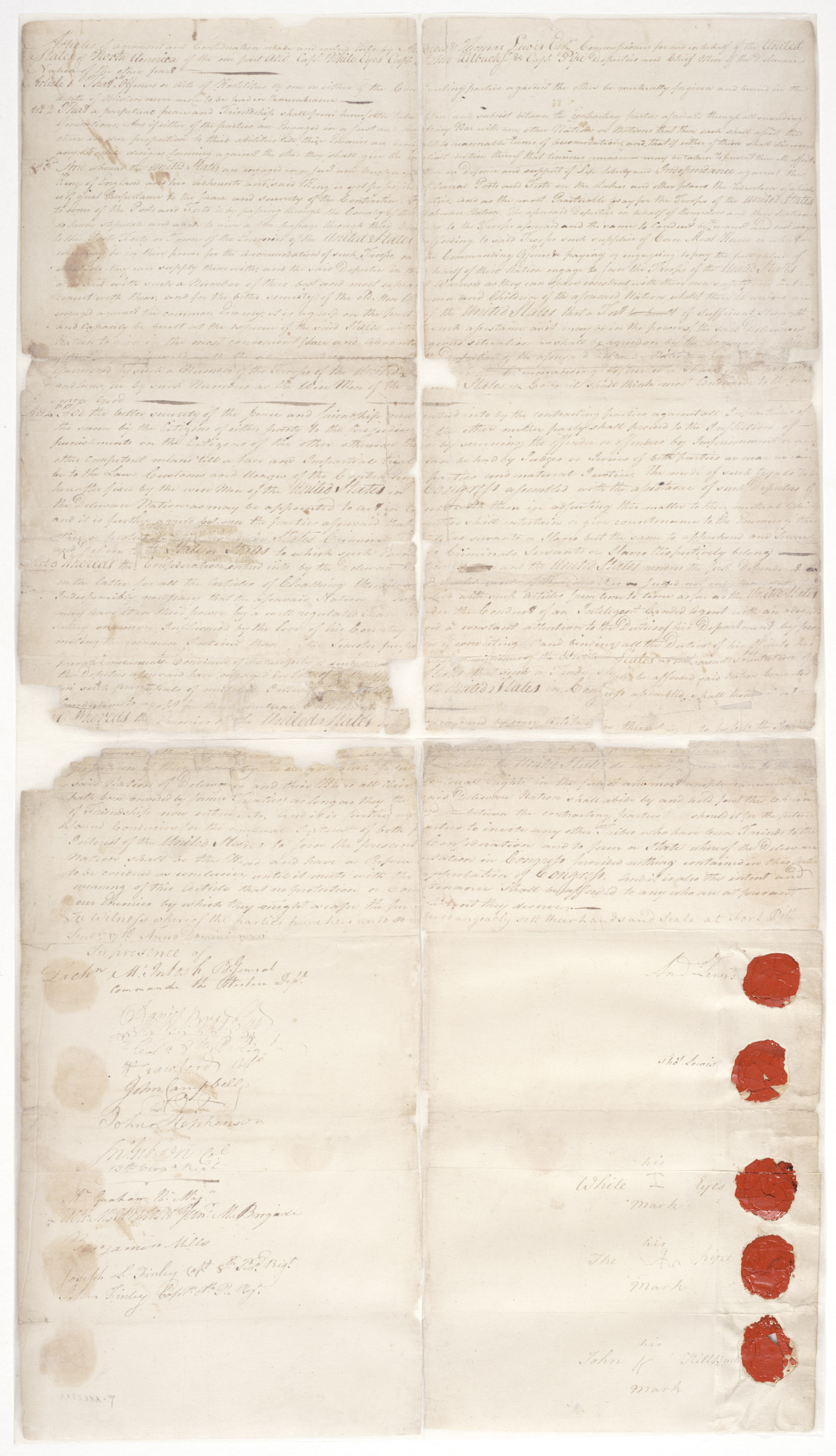 Handwritten treaty
