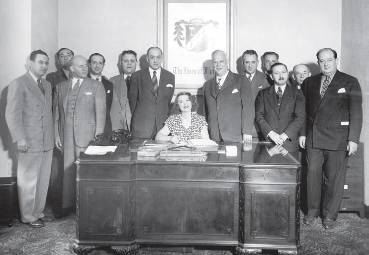 Tillie Lewis and brokers, 1945, Courtesy of Haggin Museum