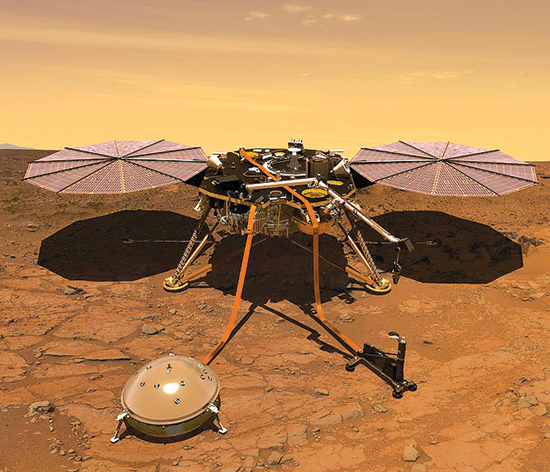 Artists rendering of Mars lander