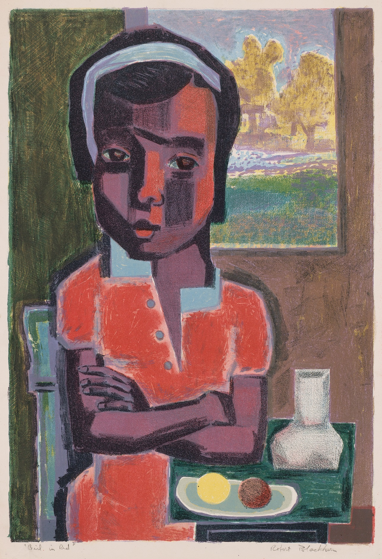 Girl in Red, 1950