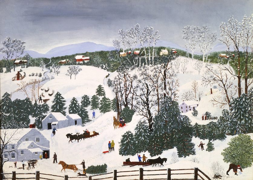 "Painting ""Going for Christmas Trees"""