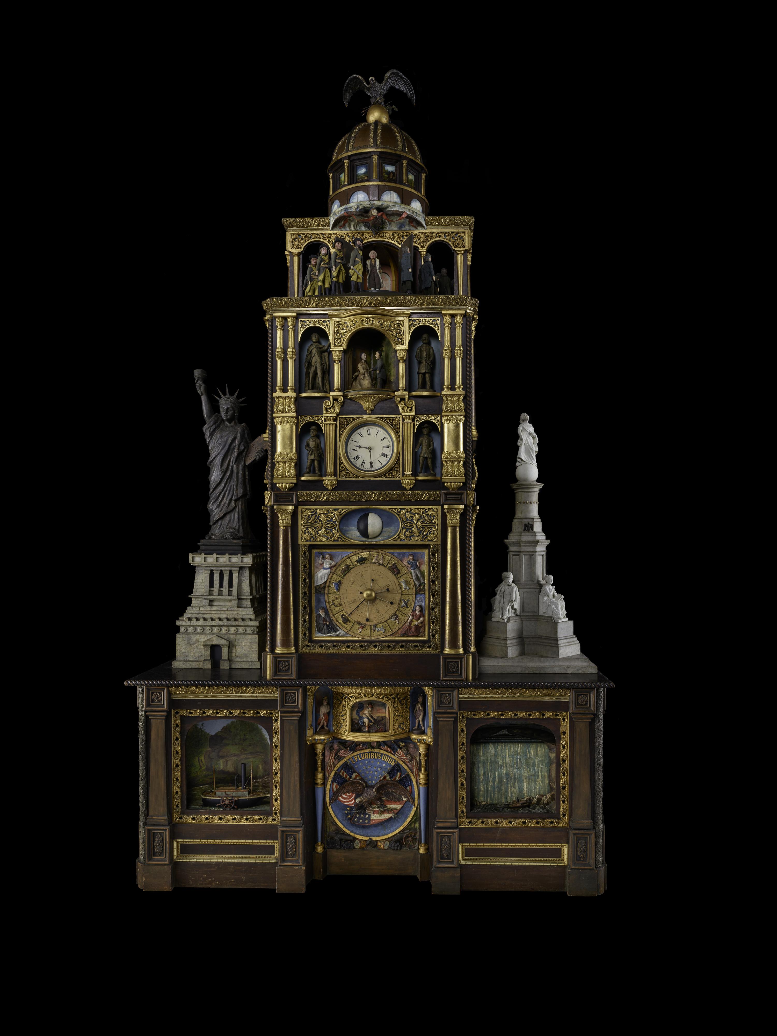 Elaborately constructed story clock