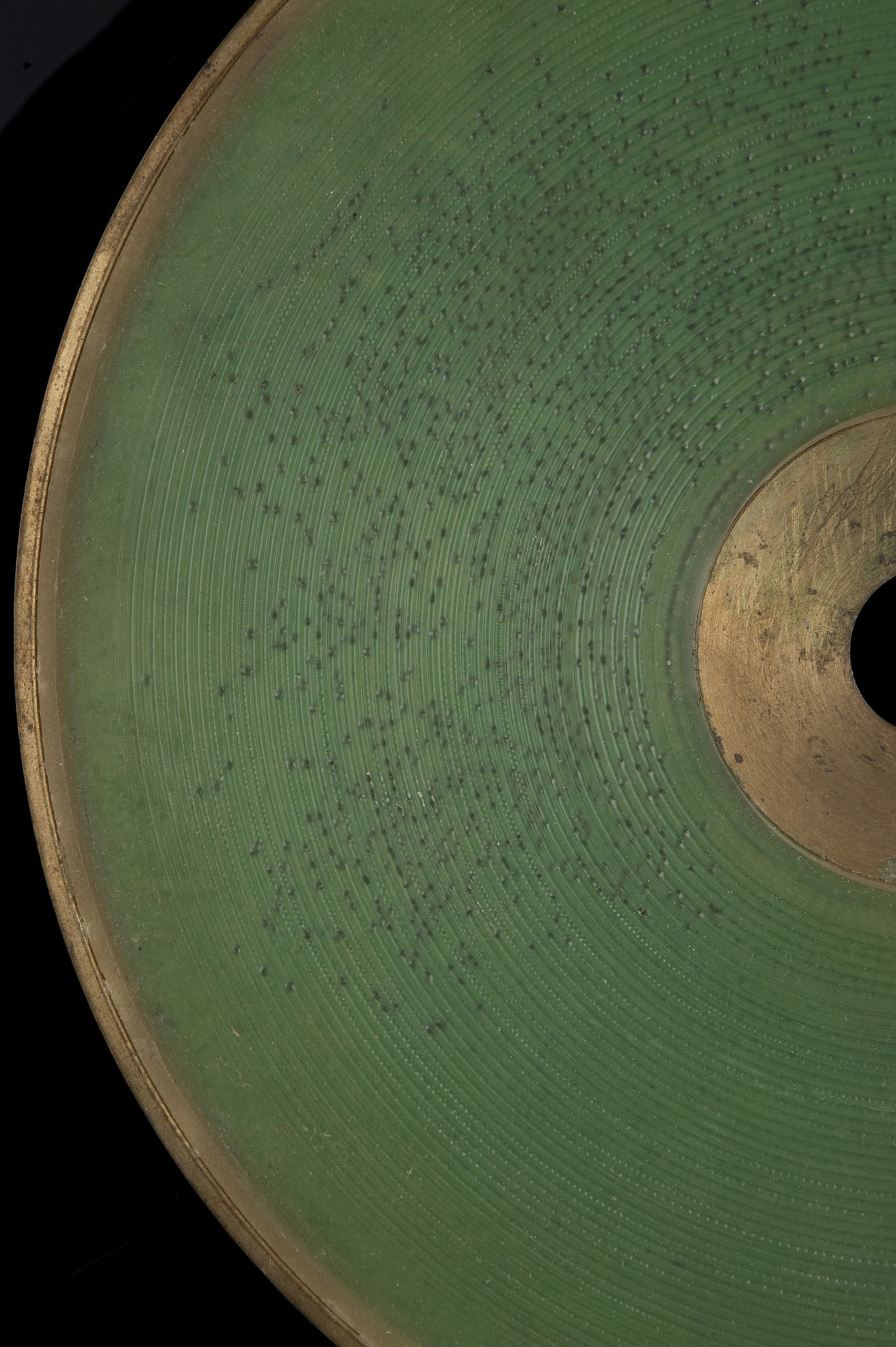 Green wax disc