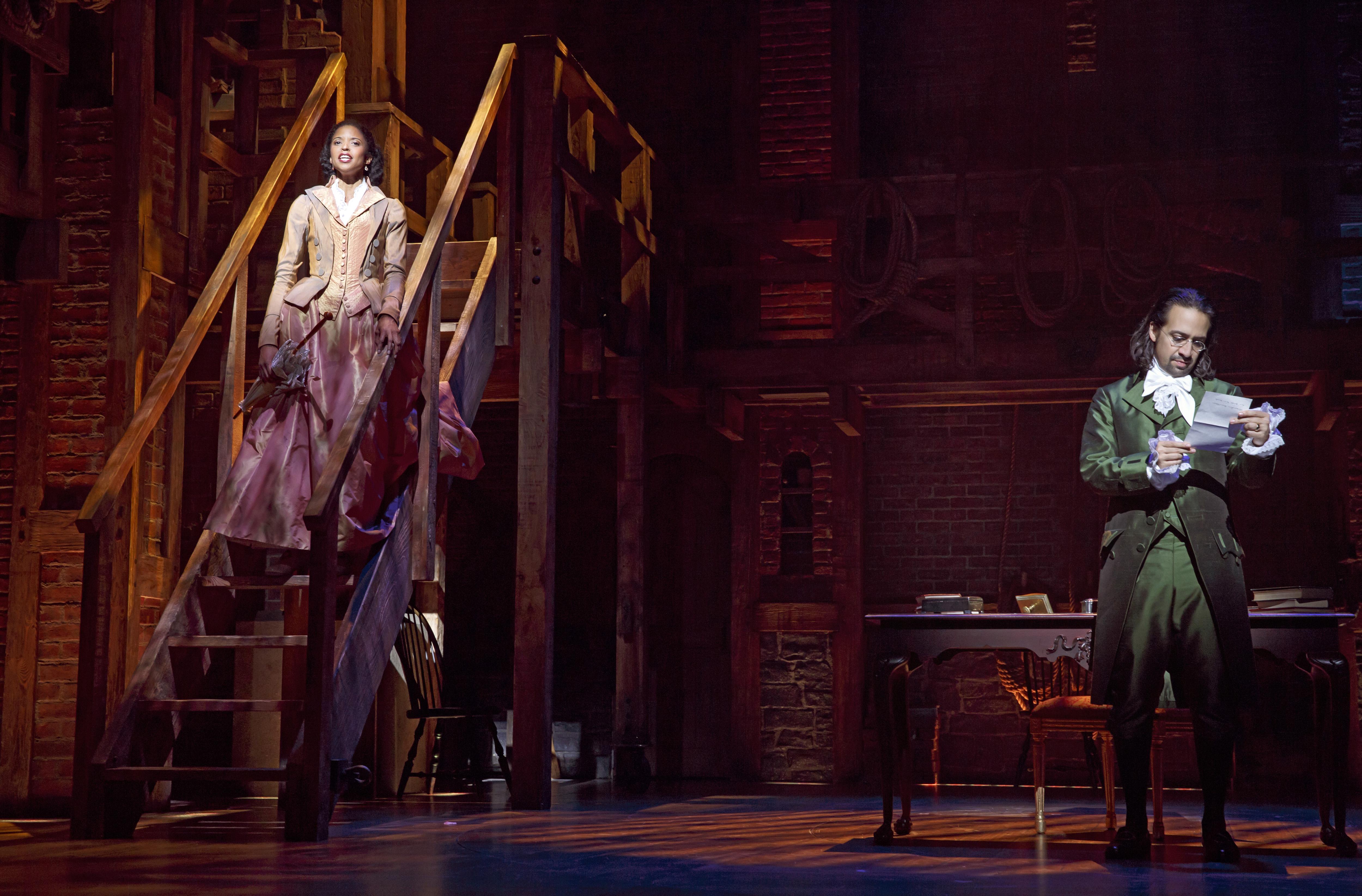 Scene from Hamilton: An American Musical