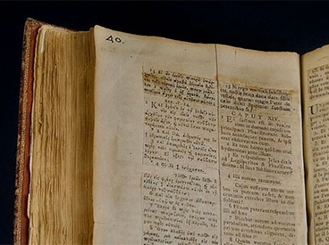cropped photo of old bible