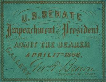 ticket to Andrew Johnson impeachment