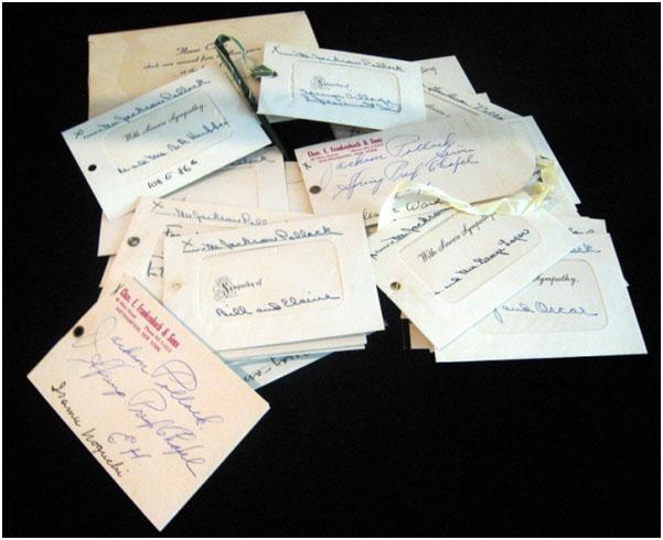 Jackson Pollock funeral cards
